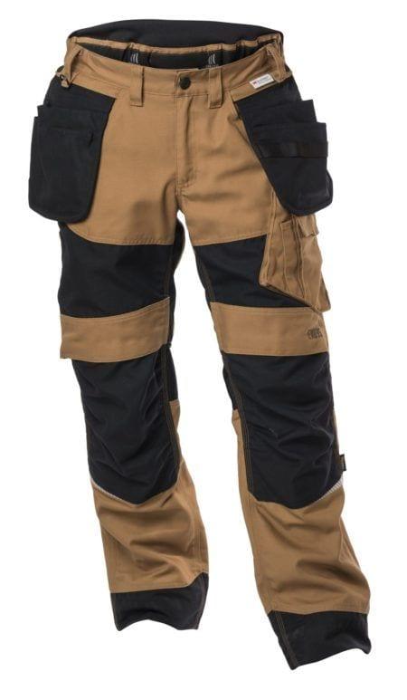 arbejdsbukser, evo35, slidstaerke i brun