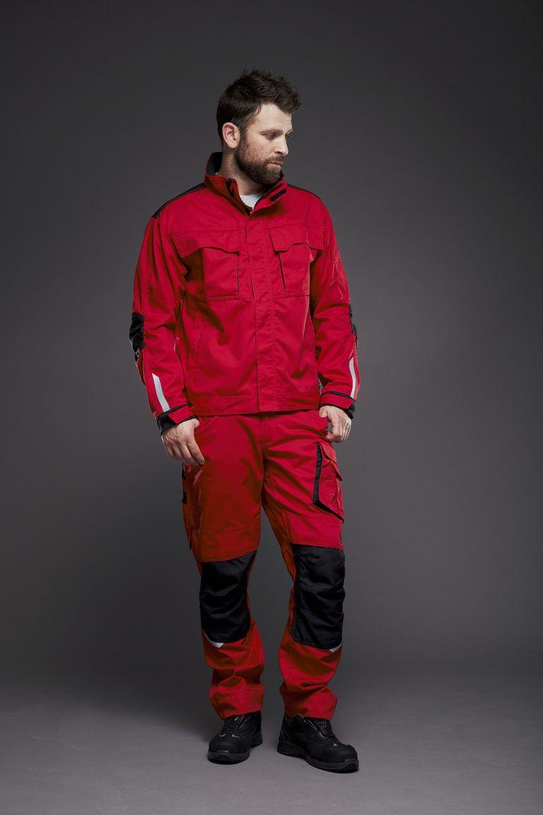 EVOBASE bukser og jakke, rød