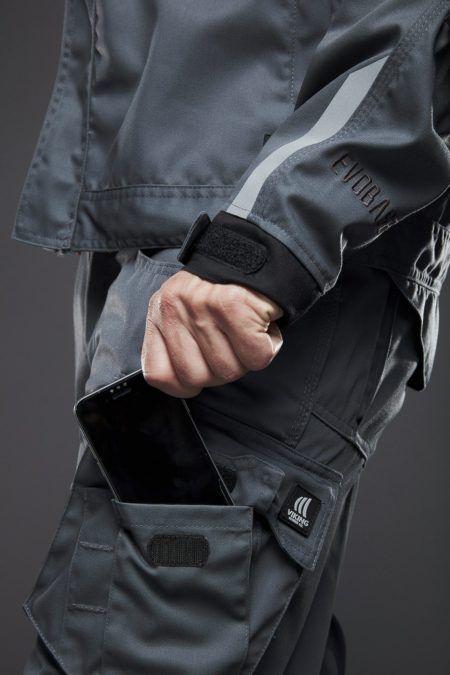 EVOBASE bukser med smart lomme til telefonen og cargo lomme