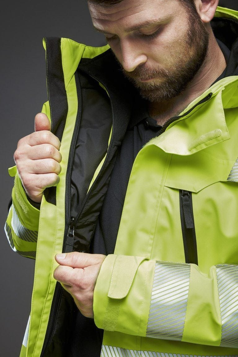 EVOSAFE all wheather Jacket with reversable zip-in jacket